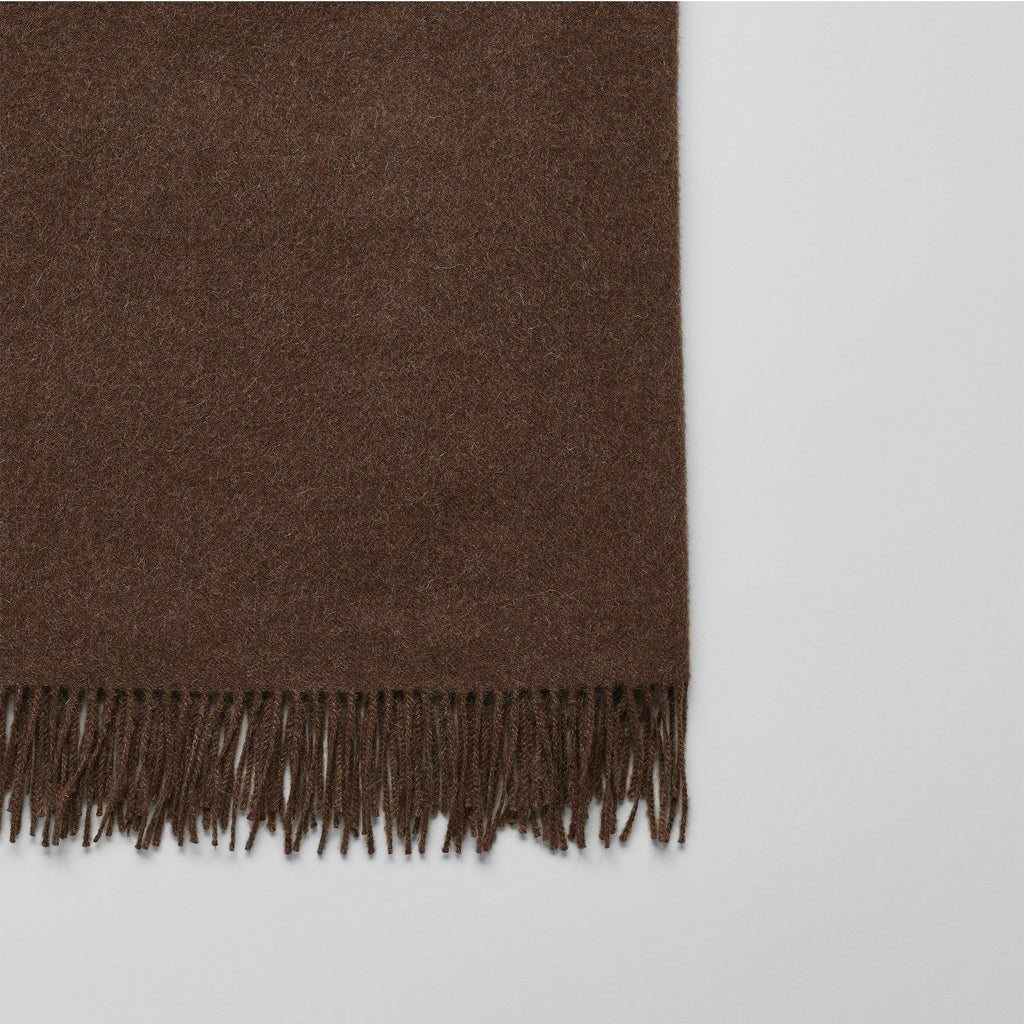 Baby Alpaca Throw, Solid Chestnut - Bloomist