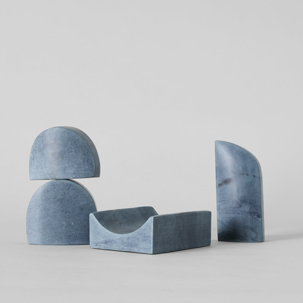 Stacking Sculpture Set – Grey Soapstone - Bloomist
