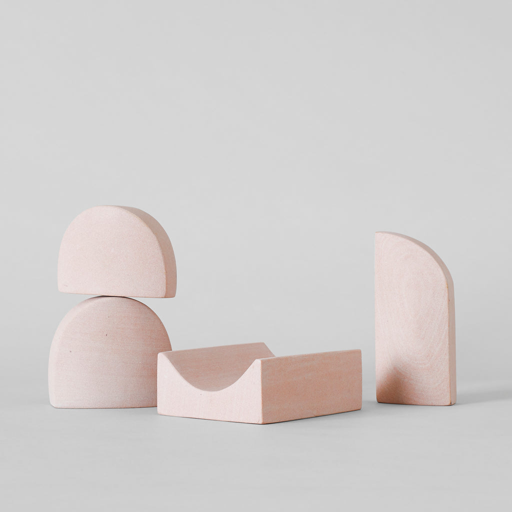 Stacking Sculpture Set-Pink Sandstone - Bloomist