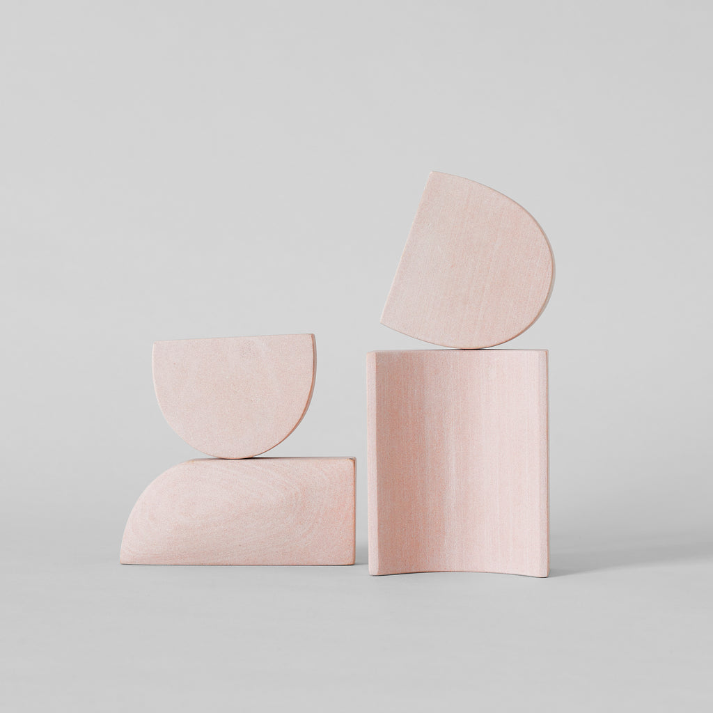 Stacking Sculpture Set - Pink Sandstone - Bloomist