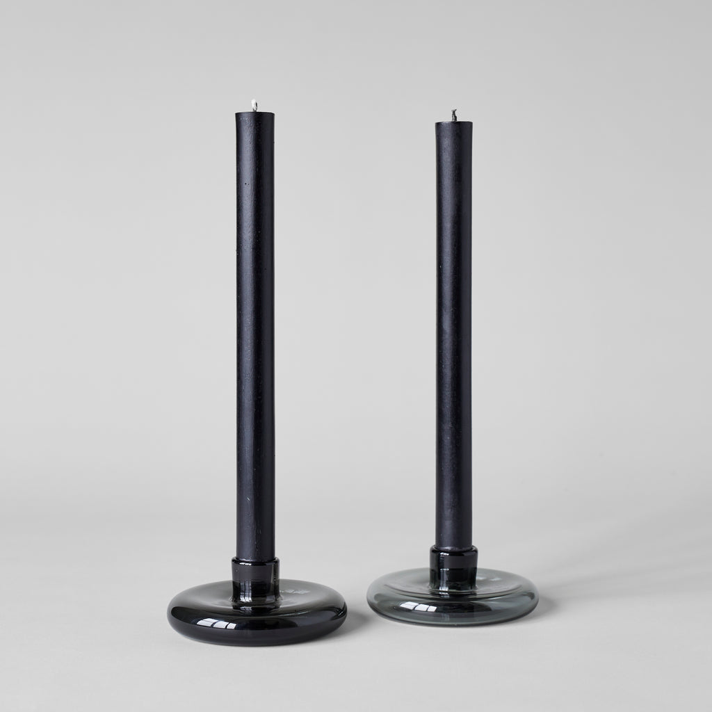 Candlestick Holders in Charcoal - Bloomist