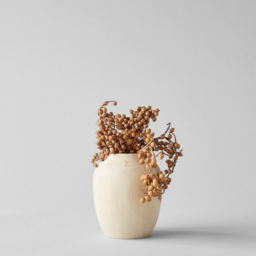 White Walnut Plum Vase, Medium