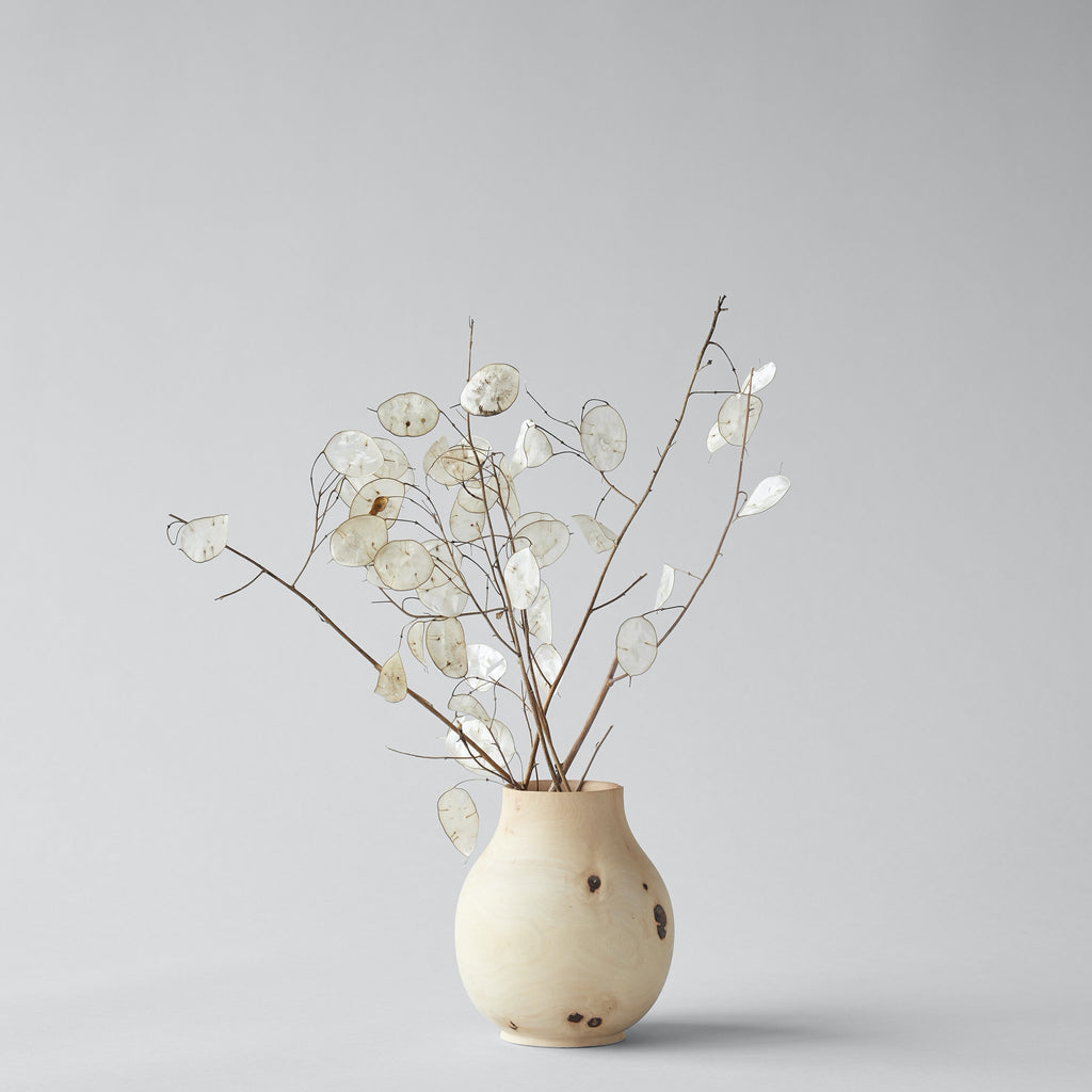 White  Walnut Pear Vase, Medium - Bloomist