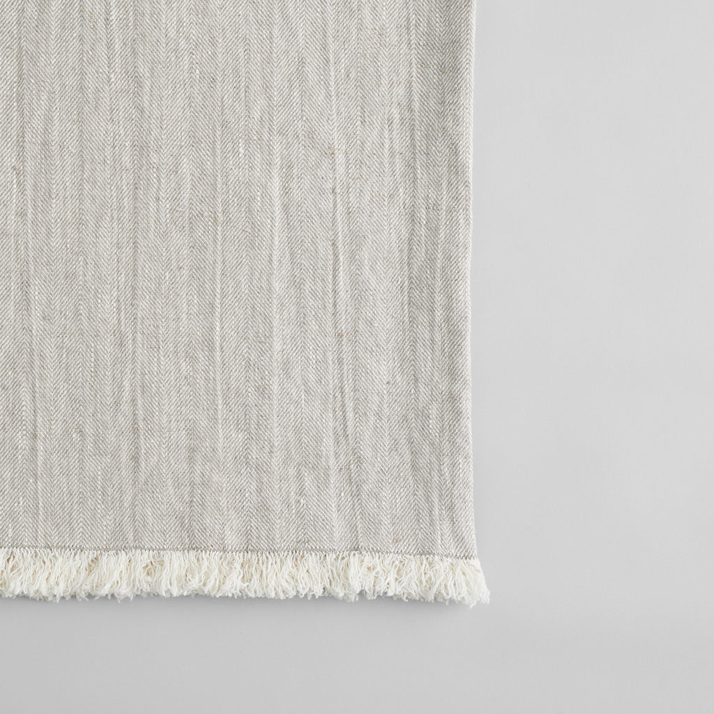 Linen Throw in Natural - Bloomist