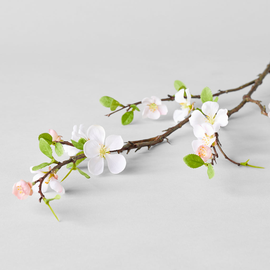 "EcoFaux Pink Quince branch, 46"" - Bloomist"