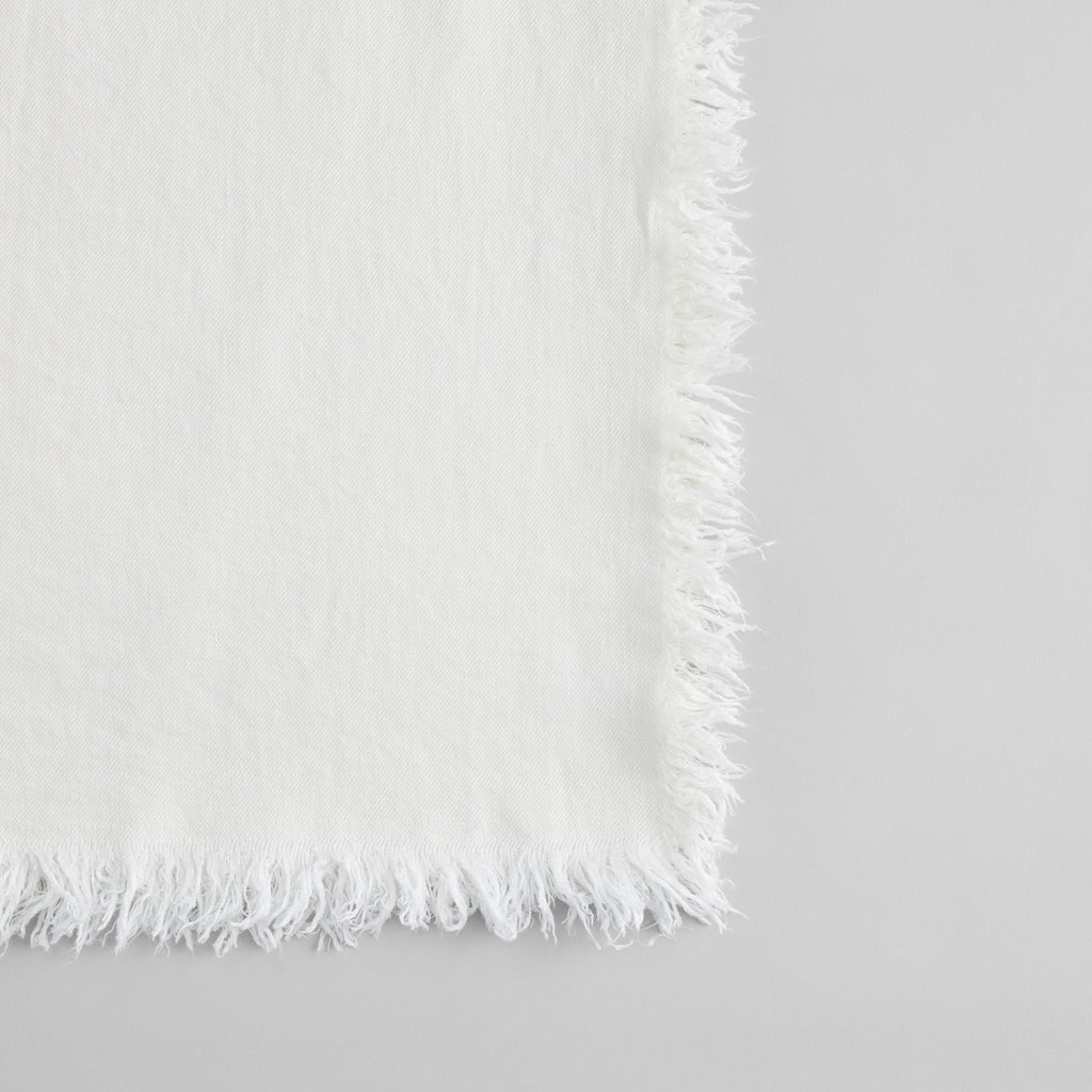 Linen Throw in White - Bloomist