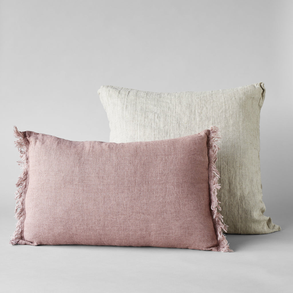 Linen Pillow in Dusk Rose, 24x16 - Bloomist
