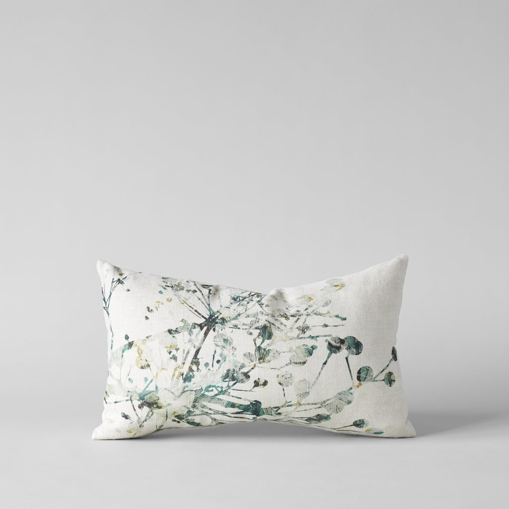 Belgian Linen Pillow With Lilac Print 12x20 - Bloomist