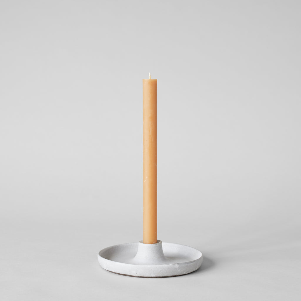 Stoneware Candlestick Holder, Grey - Bloomist