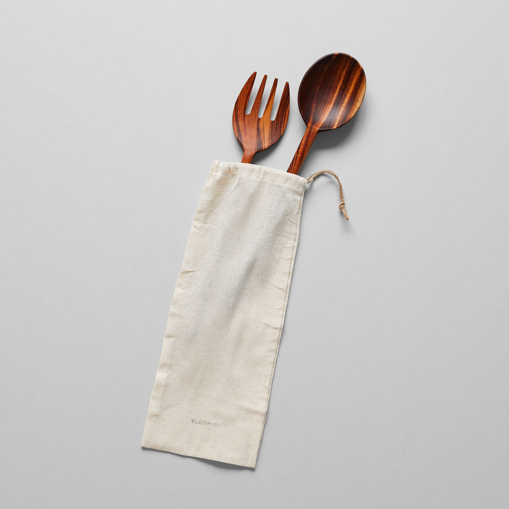 Serving Spoon and Fork, Large - Bloomist