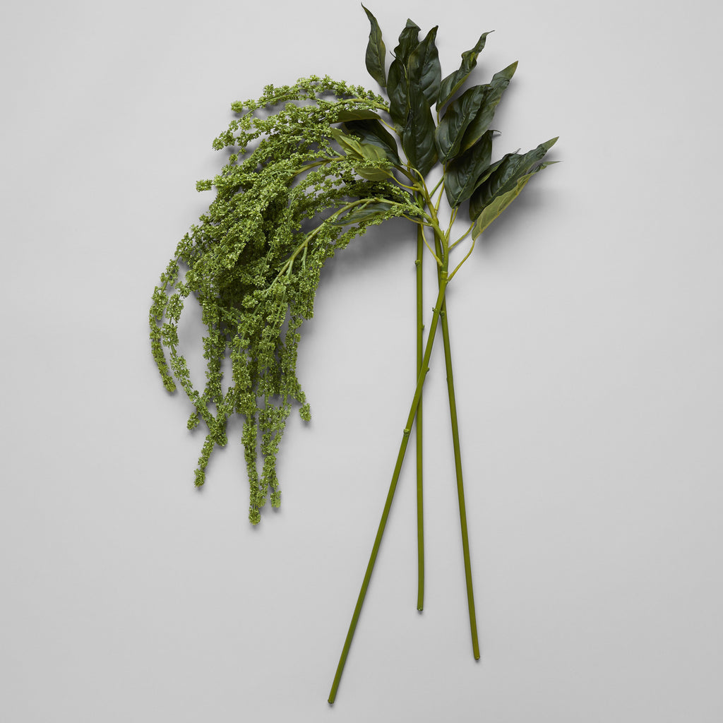 EcoFaux Green Amaranthus Spray - Bloomist