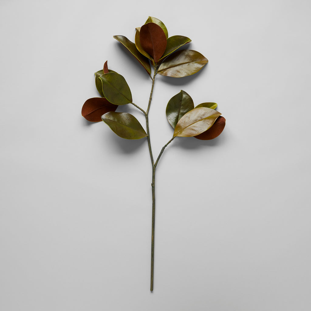 Faux Magnolia Leaf Branch
