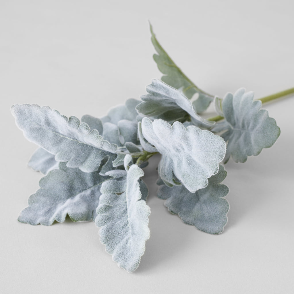Faux Dusty Miller Spray