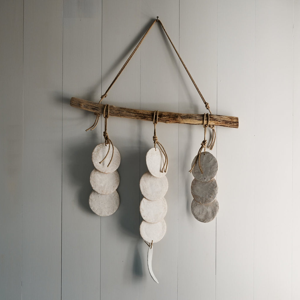 White Layered Discs Wall Hanging