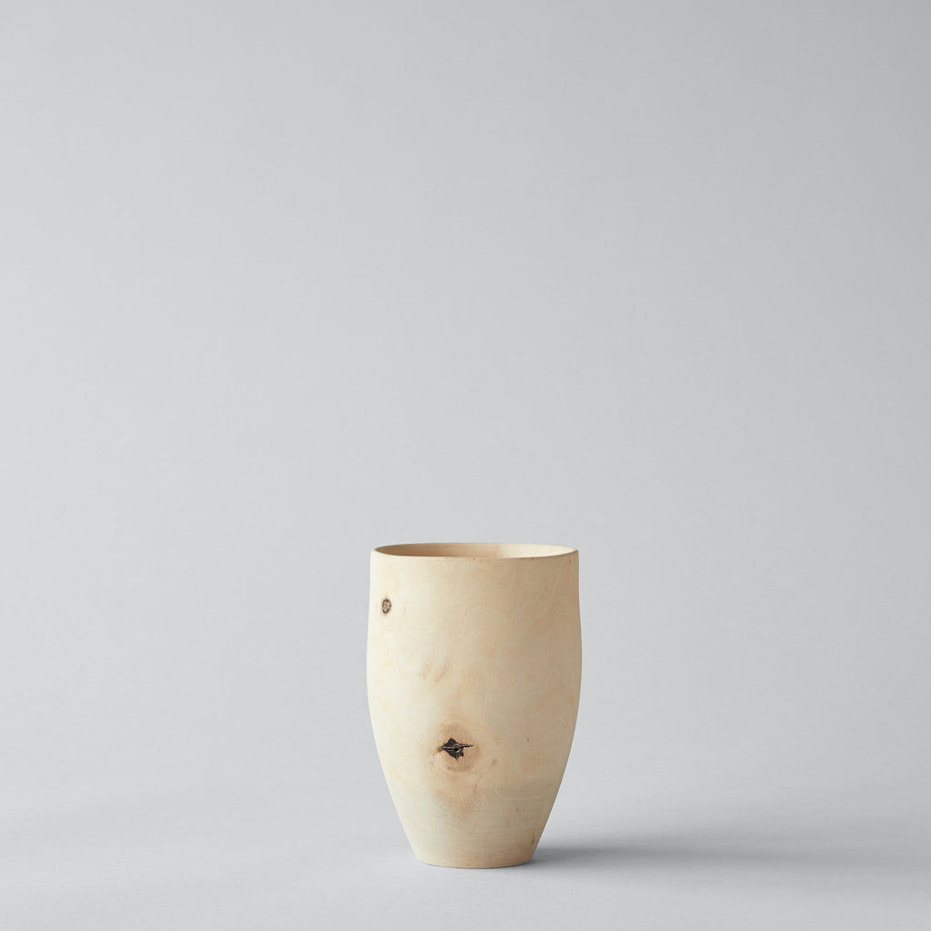 White Walnut Tulip Vase, Medium