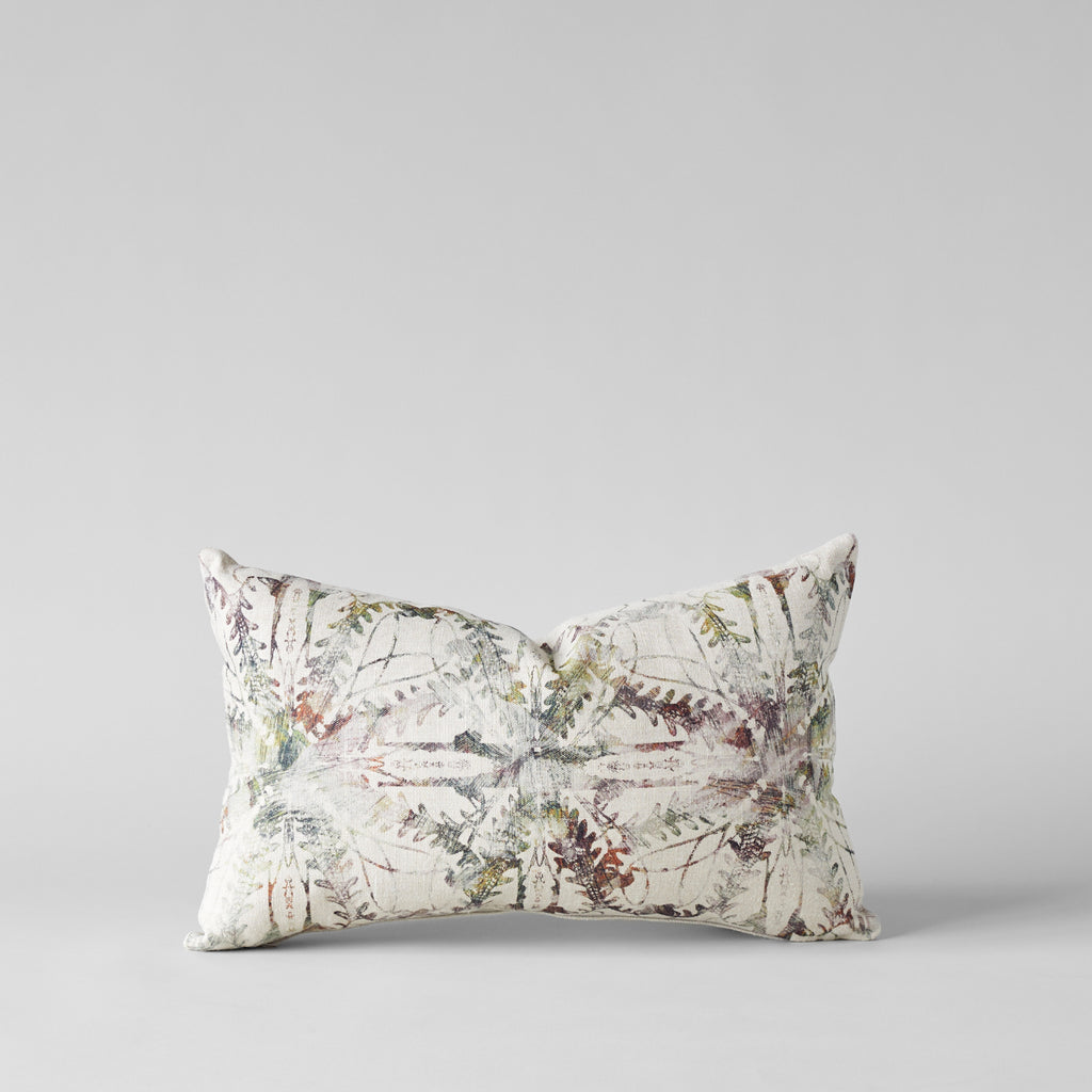 Belgian Linen Pillow With Arabesque Print 12x20 - Bloomist