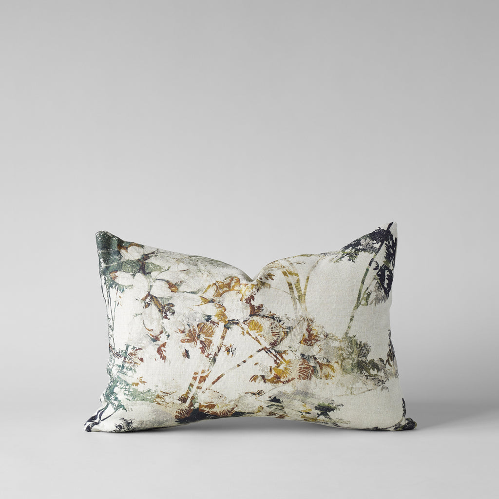 BELGIAN LINEN PILLOW WITH FOREST PRINT 16X24 - Bloomist