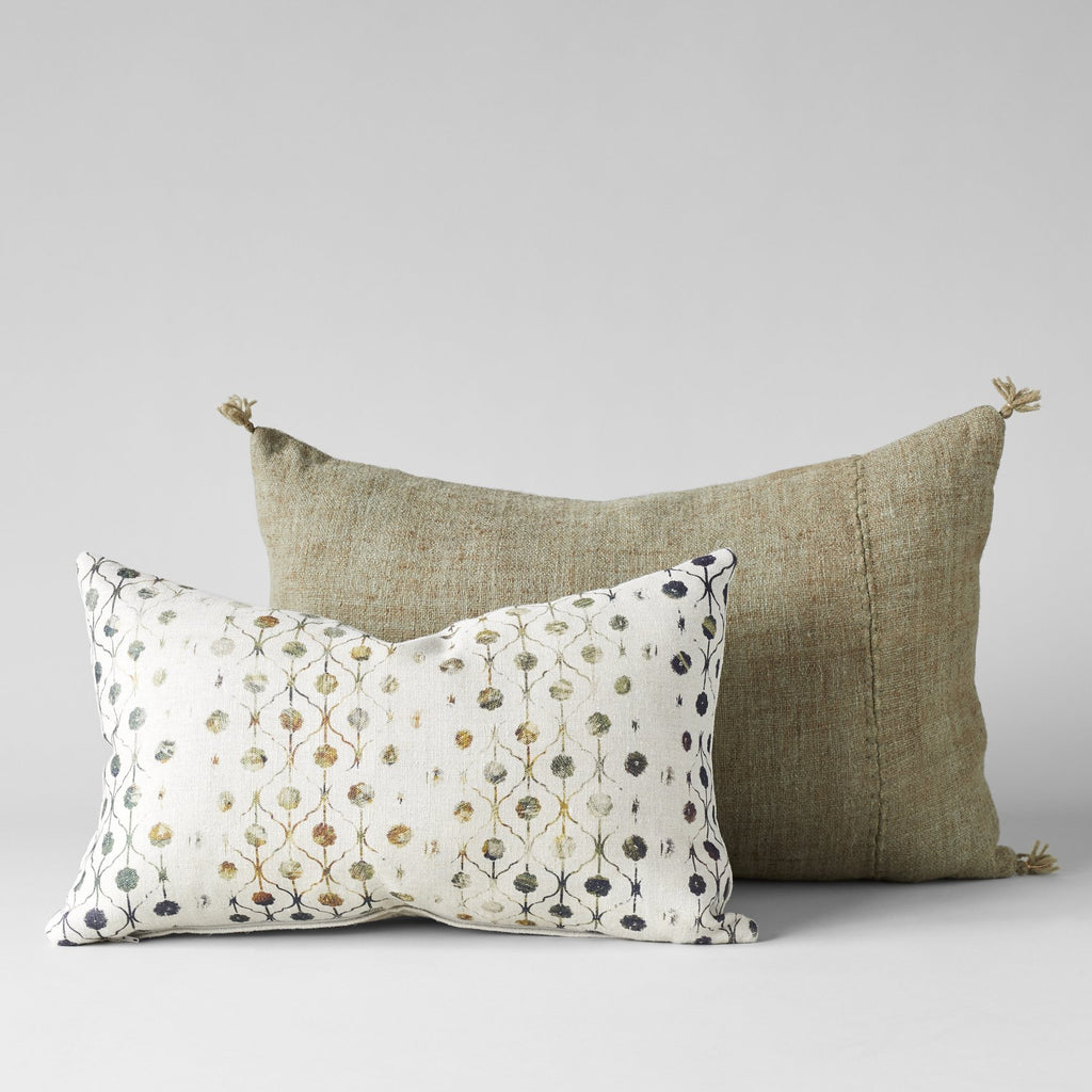Belgian Linen Pillow With Hyacinth Print 12X20 - Bloomist