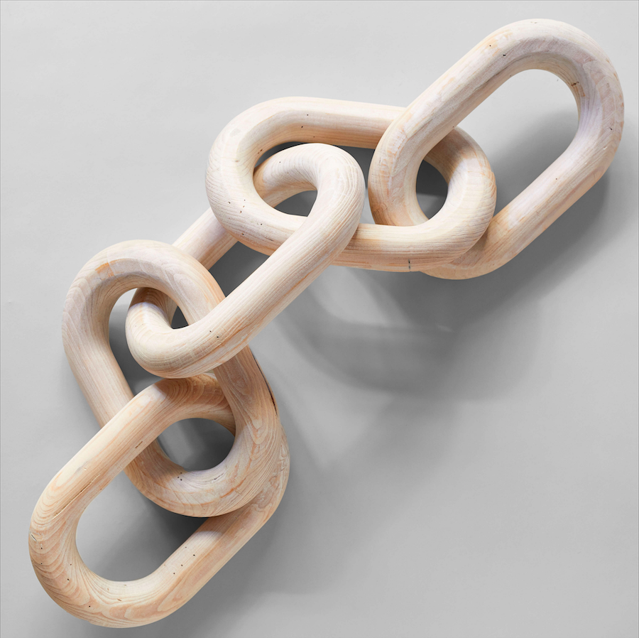 Pale Wood Chain, Large Link - Bloomist