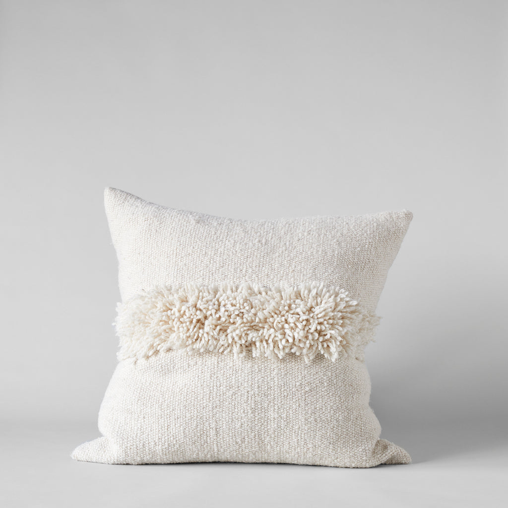 Puna Handwoven Ivory Pillow, 22x22 - Bloomist