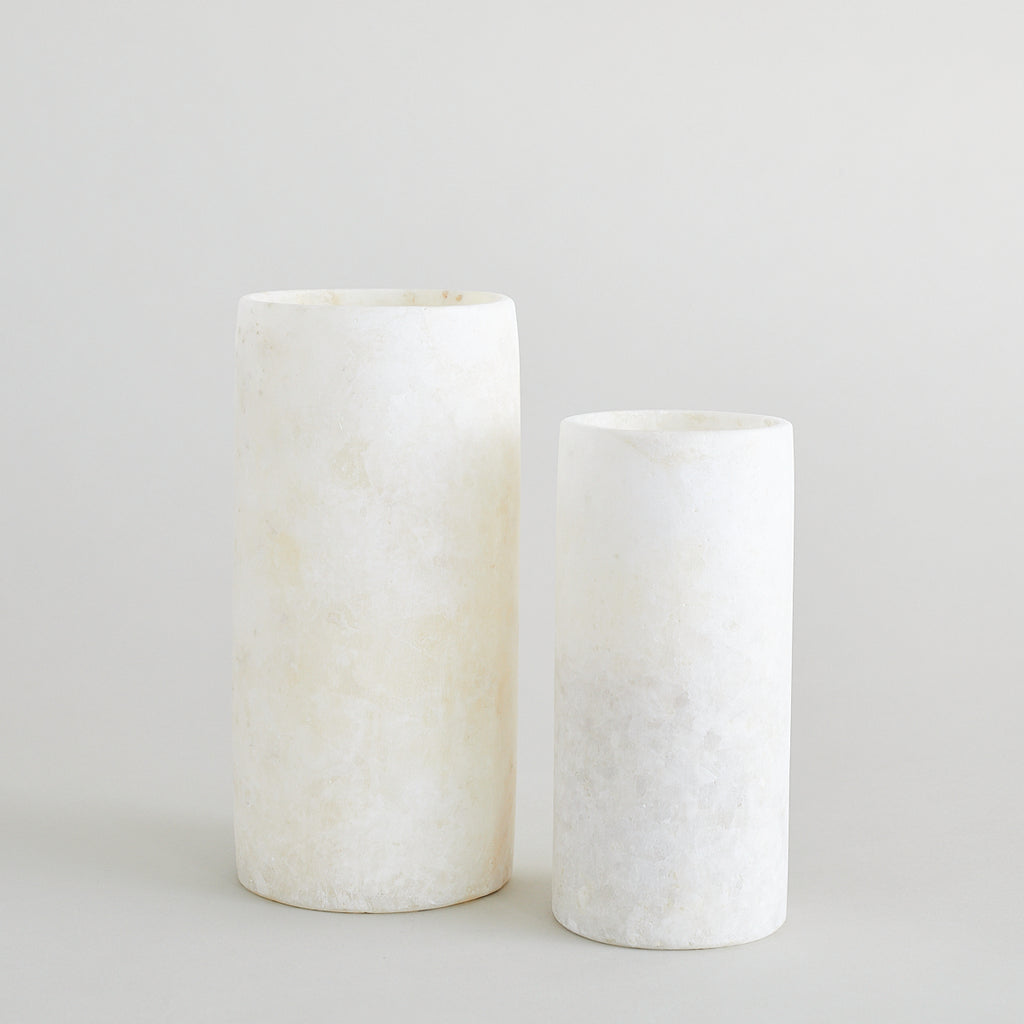 Alabaster Candle Holder