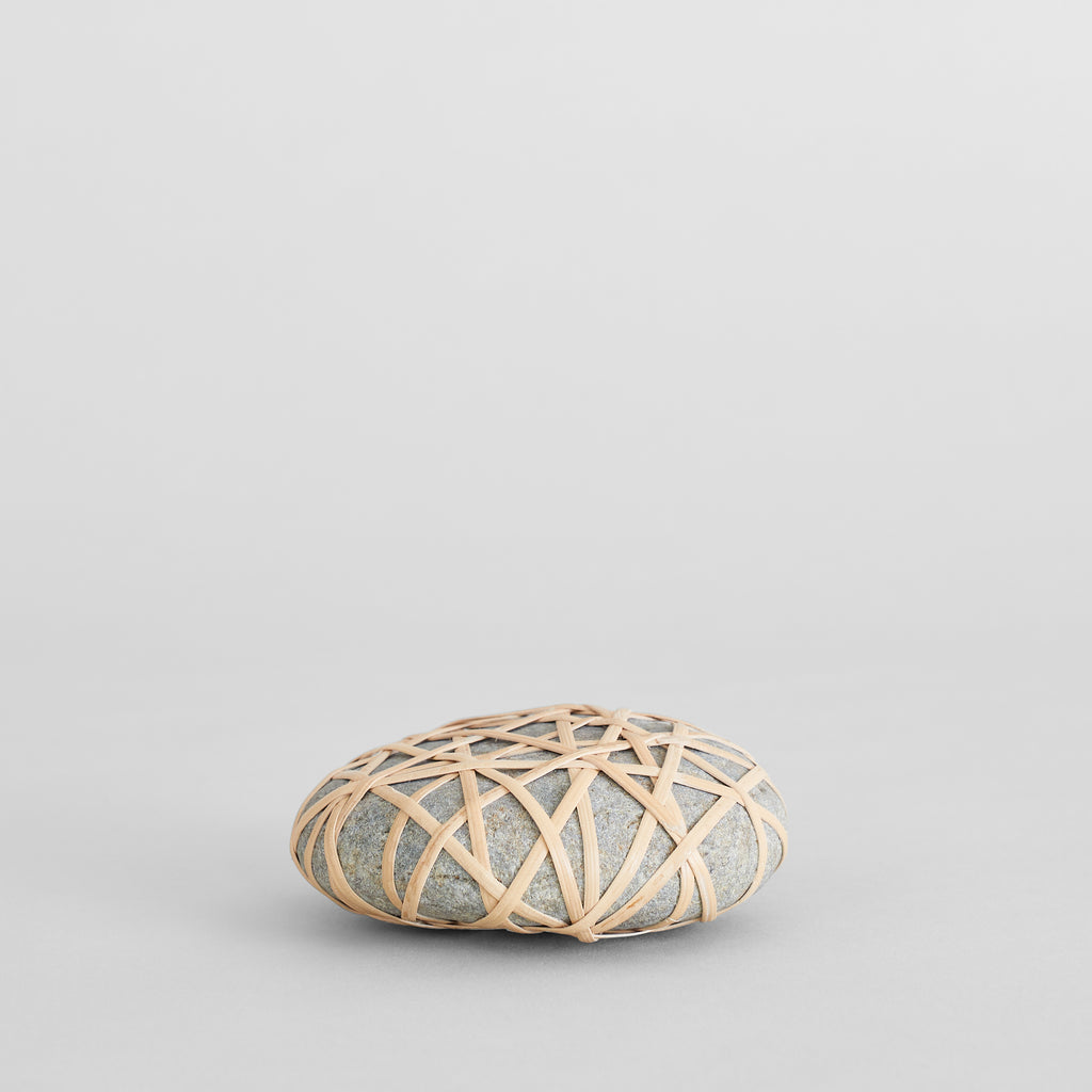 Bamboo Wrapped Rock