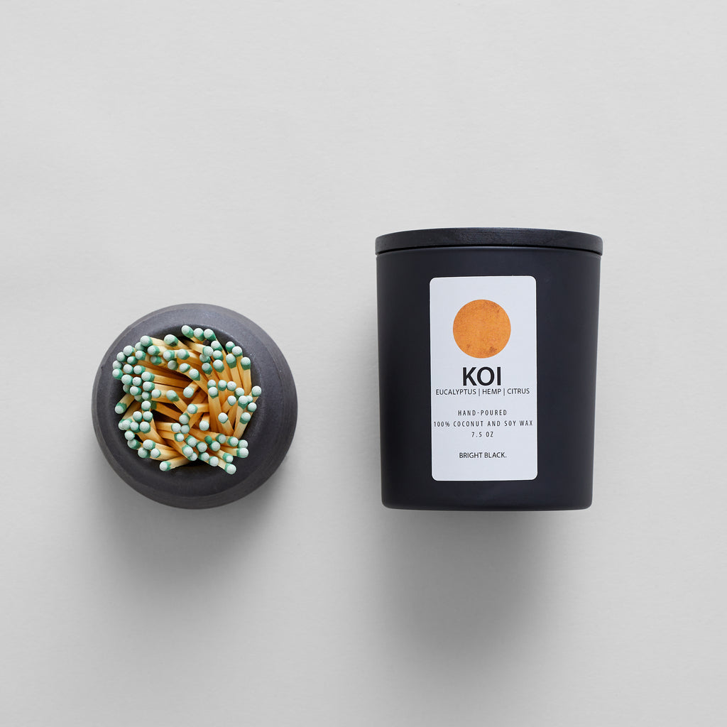 Koi Candle + Hand-Thrown Match Strike