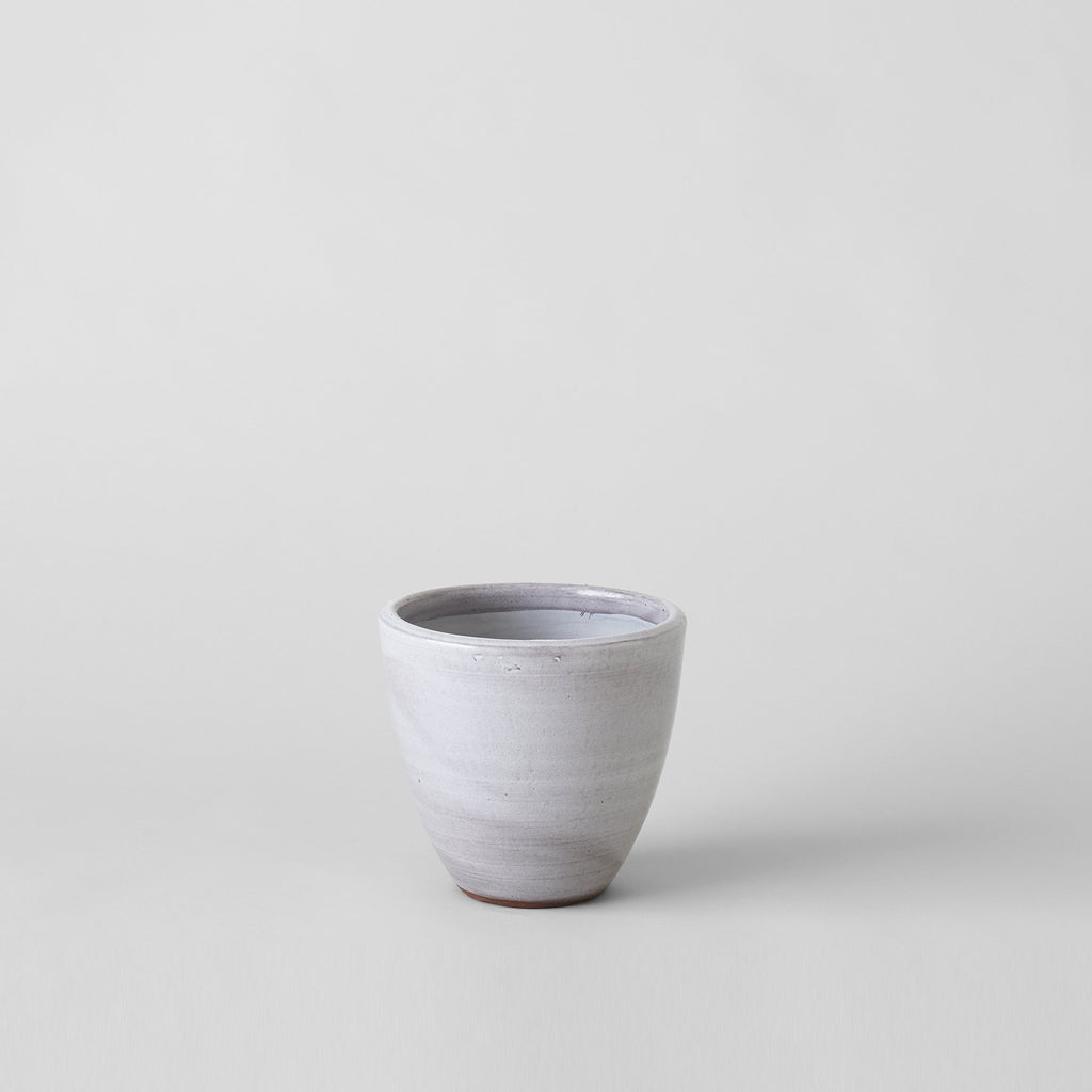 Abelia Flat Ceramic Planter in Grey - Bloomist