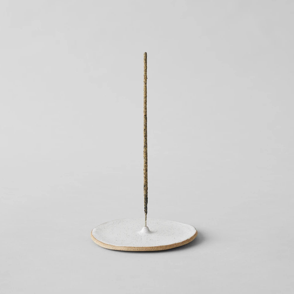 Incense Holder, Speckled White
