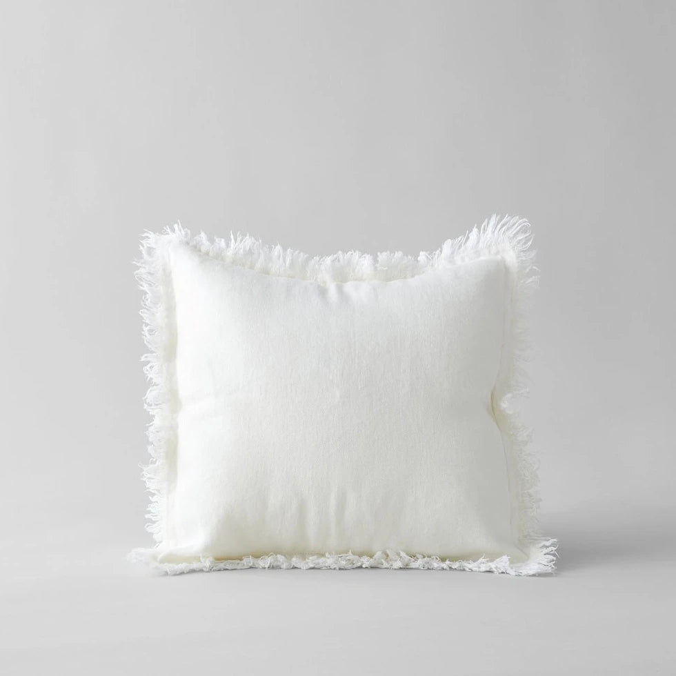 Linen Pillow in White 20x20 - Bloomist