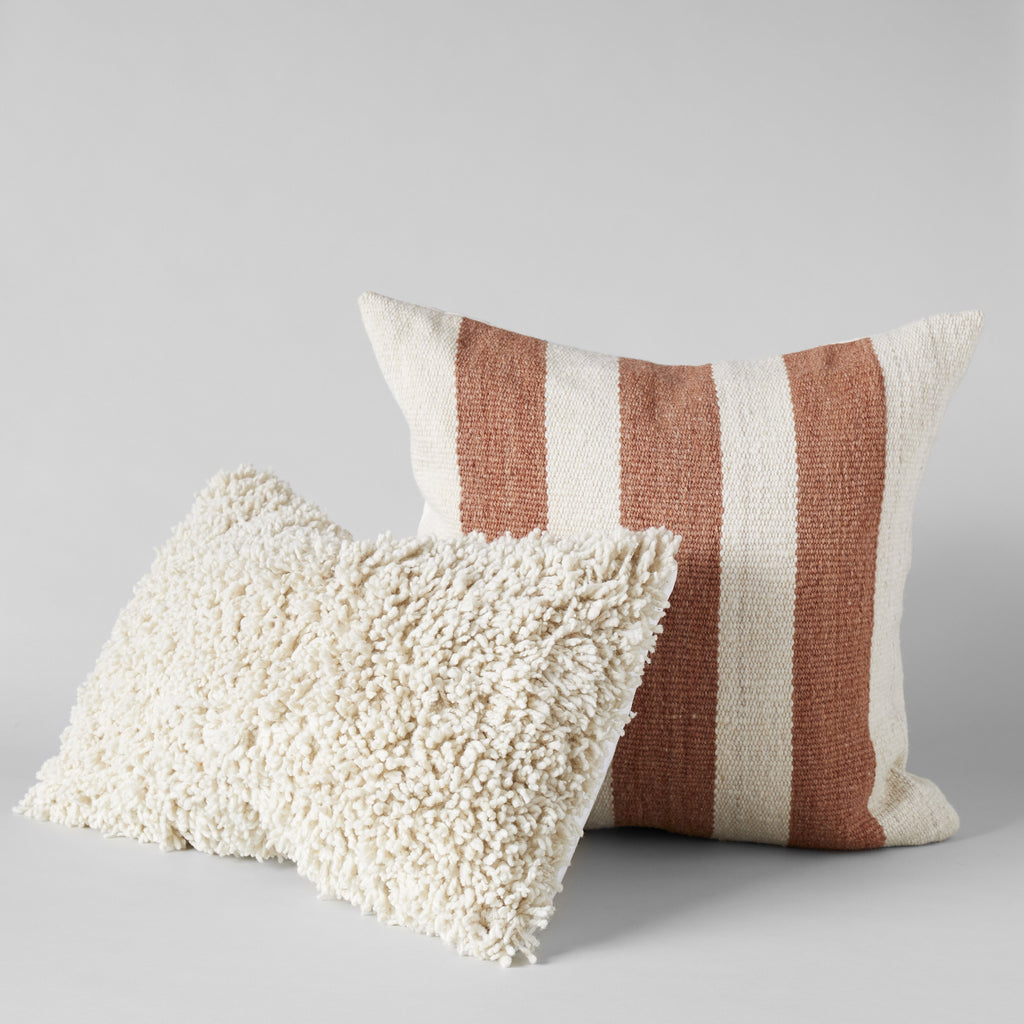 Joya Handwoven Blush Pillow, 22x22 - Bloomist