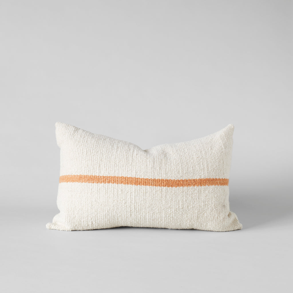Campo Pillow in Ivory with Gold Stripe, 15X25 - Bloomist