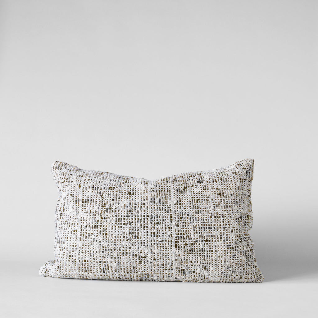 Textured Brown Tweed Pillow, 16x24 - Bloomist