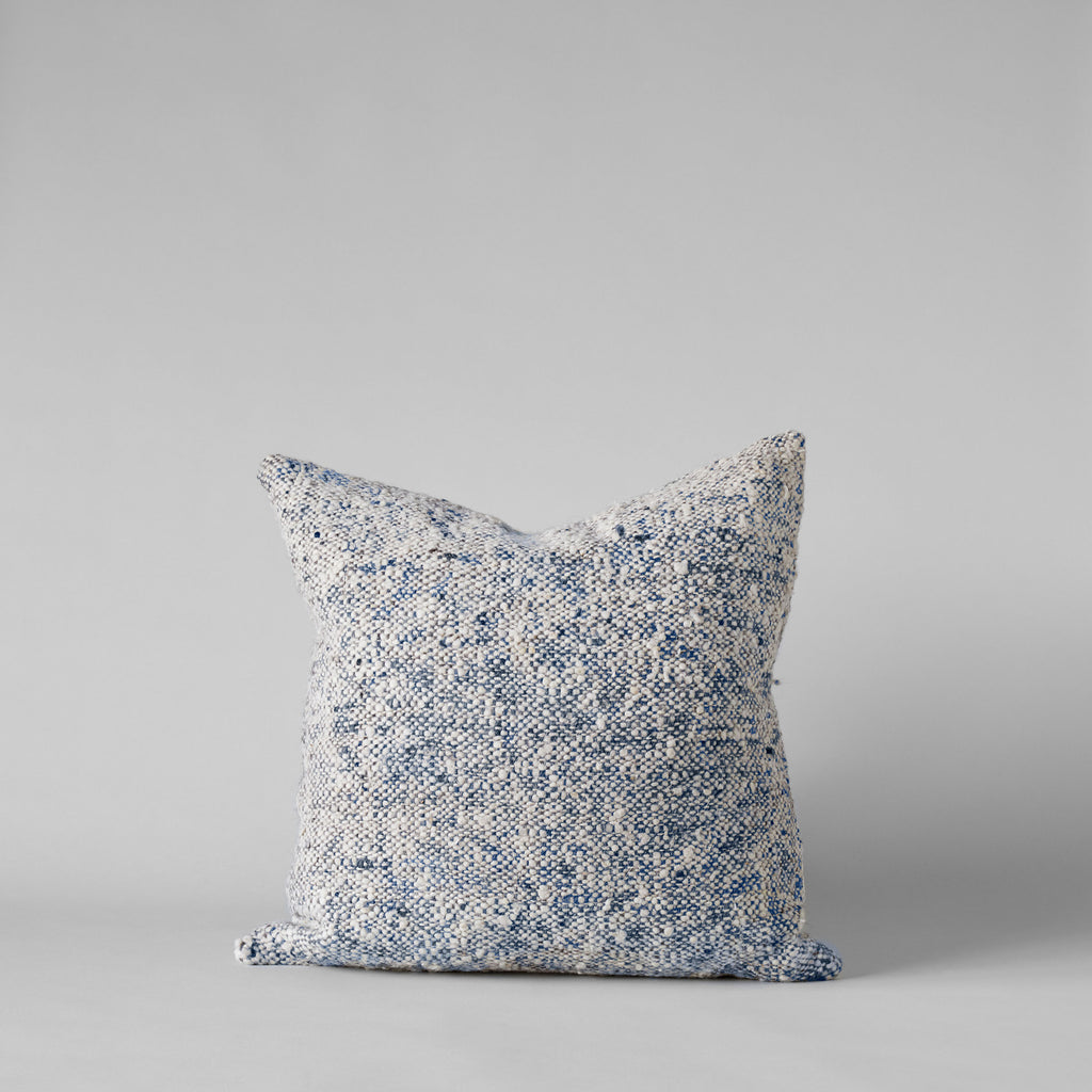 Textured Tweed Blue Pillow, 20x20 - Bloomist