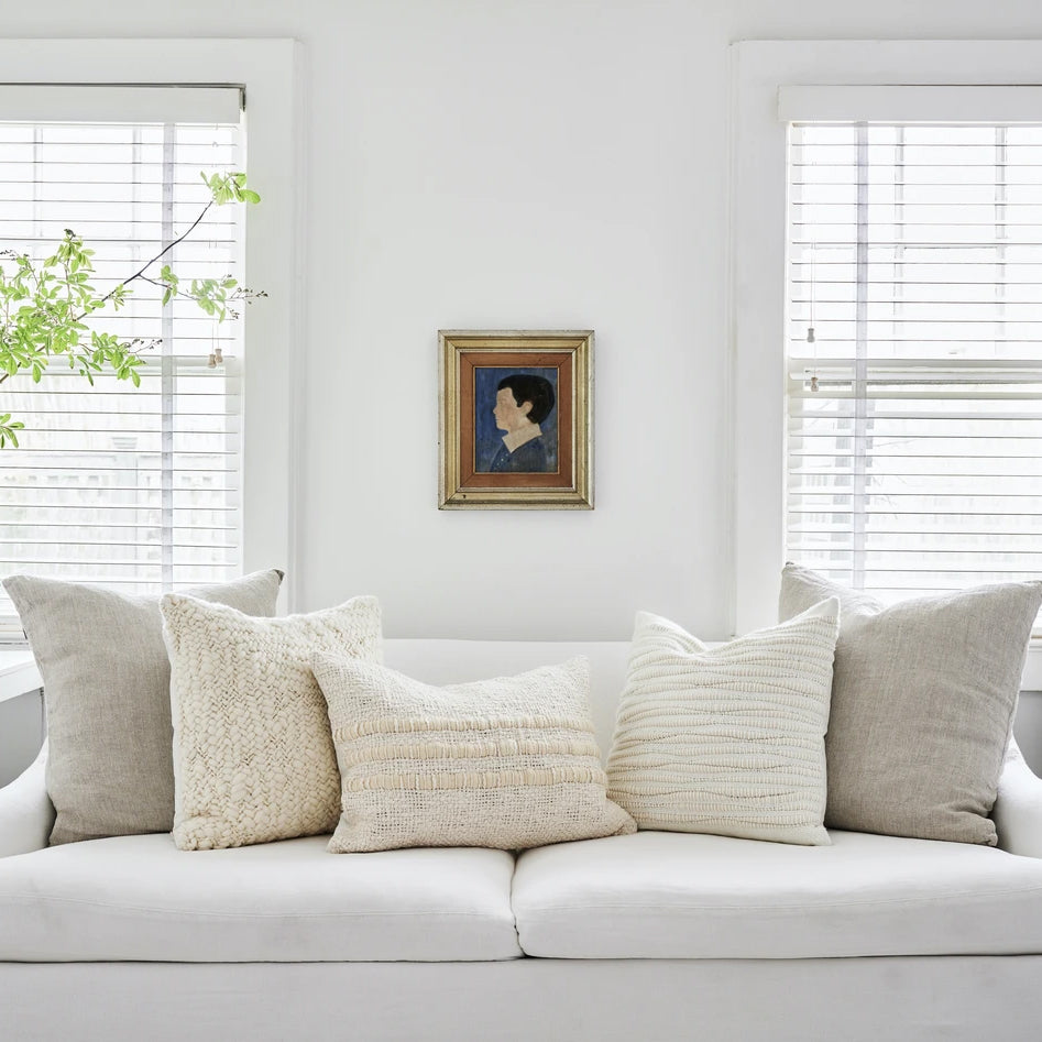 Nube Handwoven Wool Pillow in Ivory - Bloomist