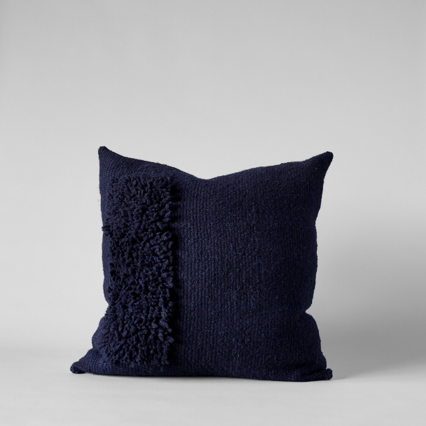 Zona Handwoven Navy Pillow, 22x22 - Bloomist