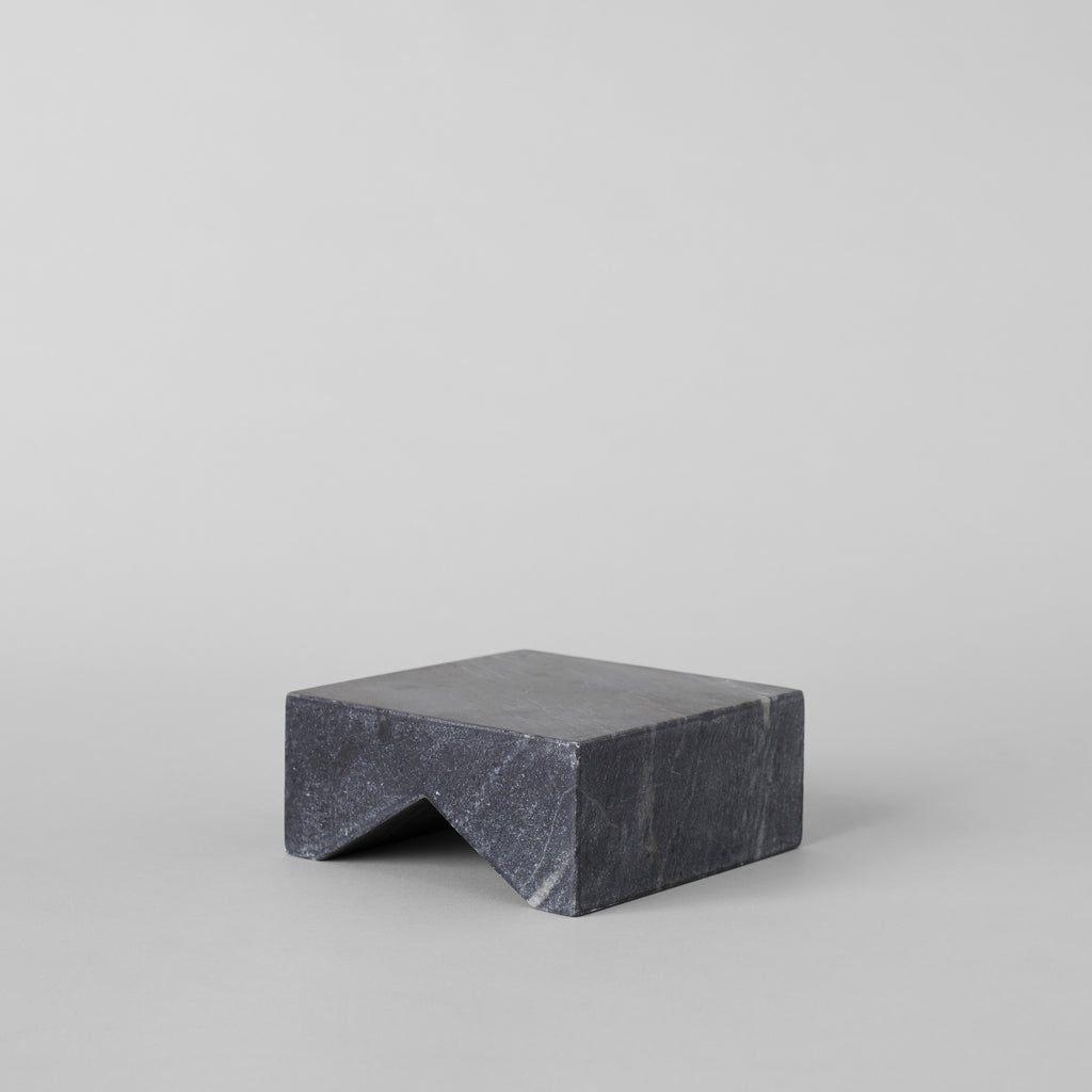 Black Marble Sculpture Base