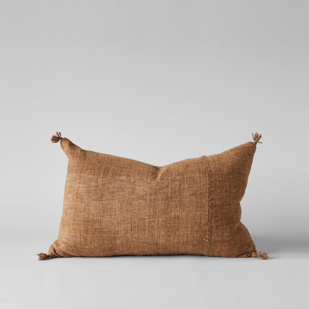 Plant-Dyed Wool Pillow In Caramel, 16x24 - Bloomist