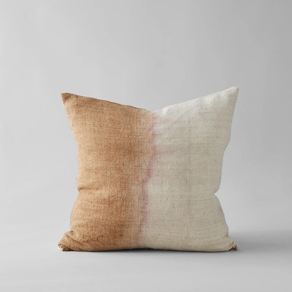Dip Dyed Wool Pillow in Blush, 22x22