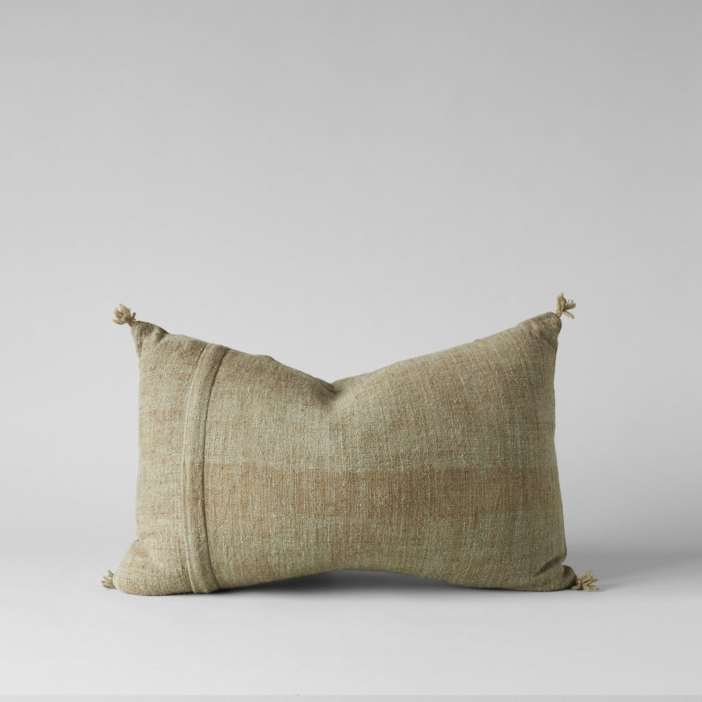 Plant-Dyed Wool Pillow In Green, 16X23 - Bloomist