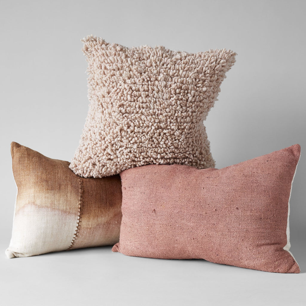 Dip Dye Wool Pillow in Blush, 16x24 - Bloomist