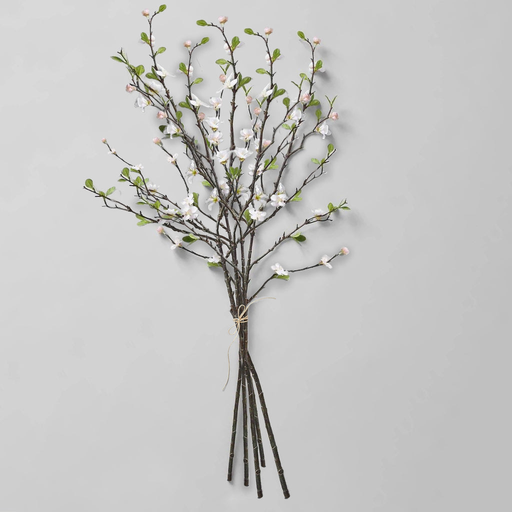 EcoFaux Pink Quince Branch, 46""