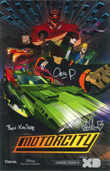ORIGINAL PILOT DESIGN MOTORCITY POSTER  Signed by:Chris Prynoski, Antonio Canobbio and Ben Kalina