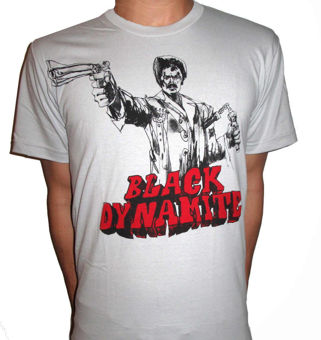 BLACK DYNAMITE! Mens Logo Tee - Grey