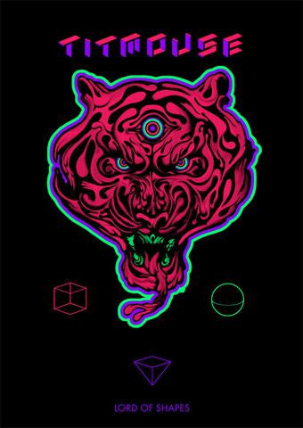 LIMITED EDITION! GLOWING BLACKLIGHT Lord of Shapes Poster