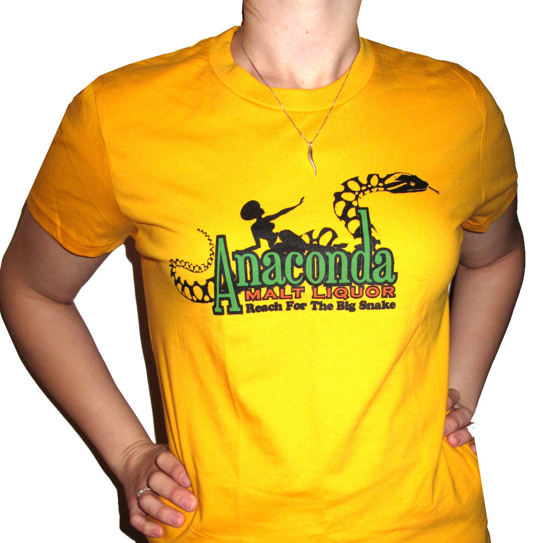 "BLACK DYNAMITE! Womens ""Anaconda Malt Liquor"" Tee"