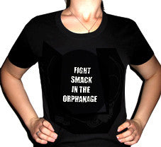 "BLACK DYNAMITE! ""Fight Smack in the Orphanage"" Small Text Tee"