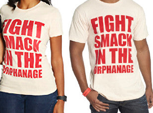 "BLACK DYNAMITE! ""Fight Smack in the Orphanage"" Cream/Red Tee"