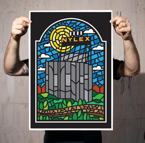 Nylex Silos Stained Glass Print