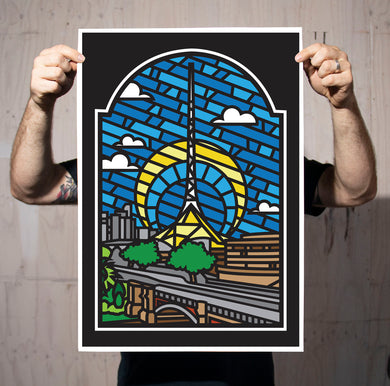 Arts Centre Stained Glass Print